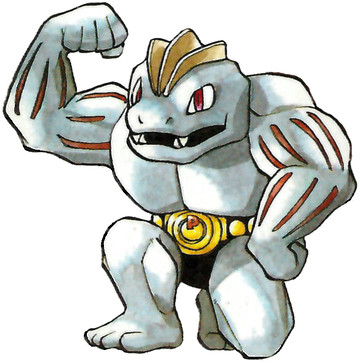 Machoke Early Sugimori artwork - Japan