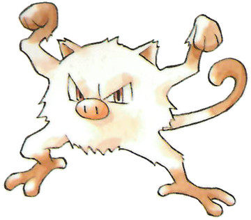 Mankey Early Sugimori artwork - Japan