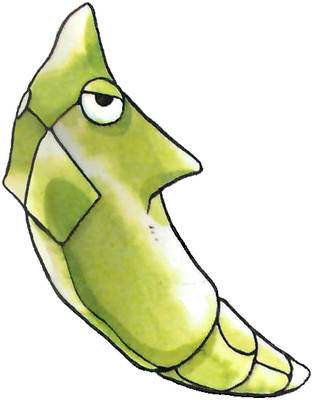 Metapod Early Sugimori artwork - Japan