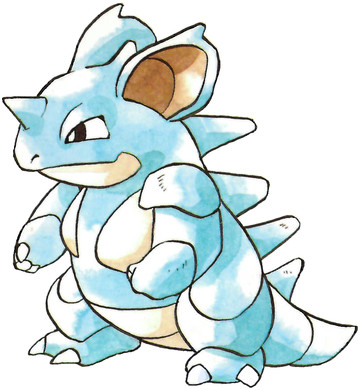 Nidoqueen Early Sugimori artwork - Red/Green JP
