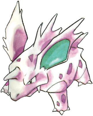 Nidorino Early Sugimori artwork - Red/Green JP