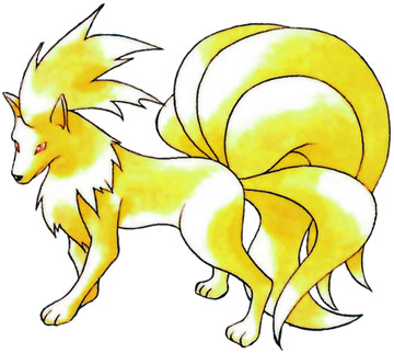 Ninetales Early Sugimori artwork