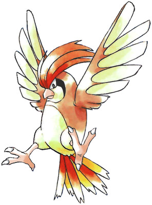 Pidgeotto Early Sugimori artwork - Red/Blue US