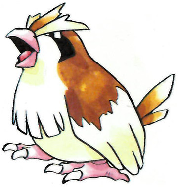 Pidgey Early Sugimori artwork - Japan