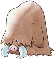 Piloswine Early Sugimori artwork - Gold/Silver