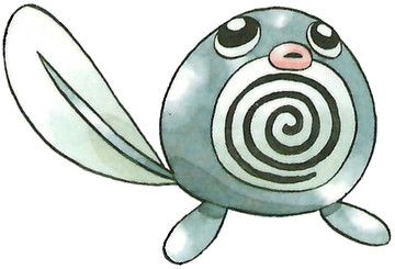 Poliwag Early Sugimori artwork - Japan