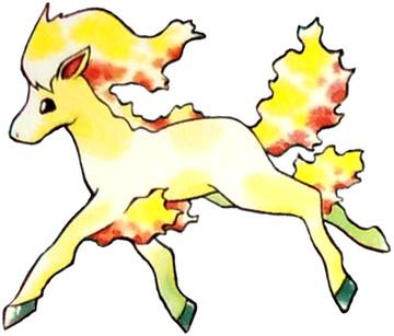 Ponyta Early Sugimori artwork