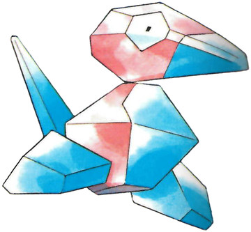 Porygon Early Sugimori artwork - Red/Blue US