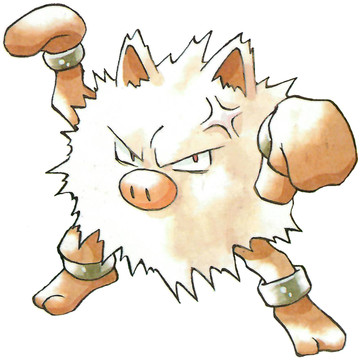 Primeape Early Sugimori artwork - Japan