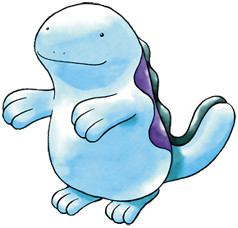 Quagsire Early Sugimori artwork