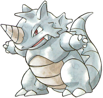 Rhydon Early Sugimori artwork - Japan