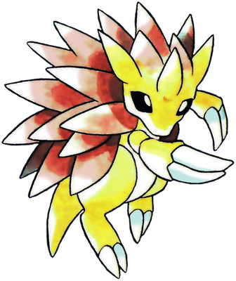 Sandslash Early Sugimori artwork