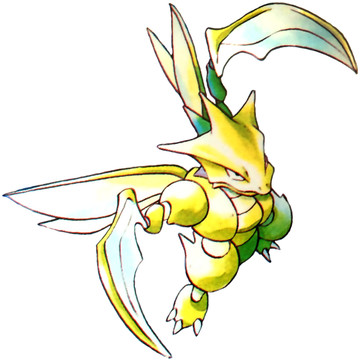 Scyther Early Sugimori artwork - Red/Blue US