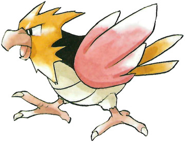 Spearow Early Sugimori artwork - Japan