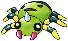 Spinarak Early Sugimori artwork