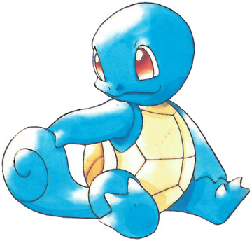 Squirtle Early Sugimori artwork - Red/Blue US