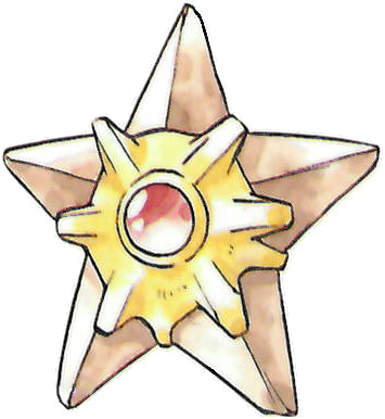 Staryu Early Sugimori artwork - Red/Green JP