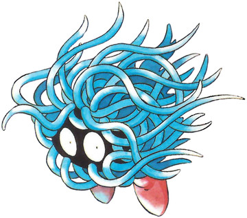 Tangela Early Sugimori artwork