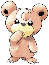 Teddiursa Early Sugimori artwork