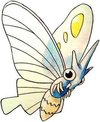 Venomoth Early Sugimori artwork