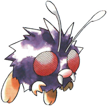 Venonat Early Sugimori artwork - Red/Blue US