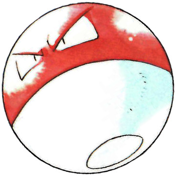 Voltorb Early Sugimori artwork