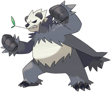 Pangoro artwork by Ken Sugimori