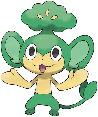 Pansage artwork by Ken Sugimori