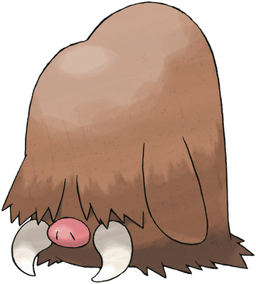 Piloswine artwork by Ken Sugimori