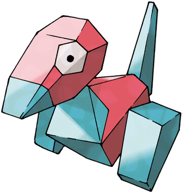 Porygon artwork by Ken Sugimori