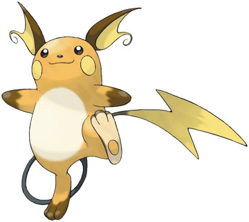 Raichu artwork by Ken Sugimori
