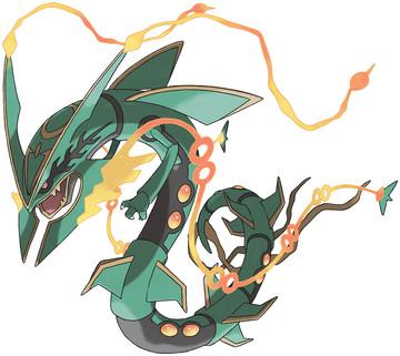 Mega Rayquaza artwork by Ken Sugimori