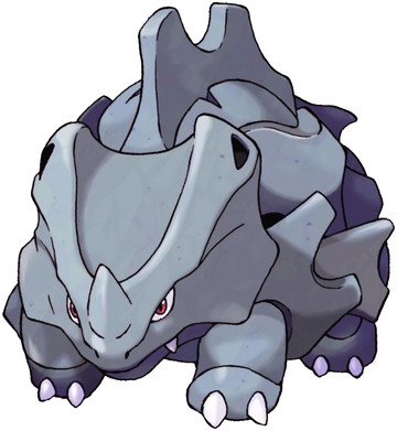 Rhyhorn artwork by Ken Sugimori