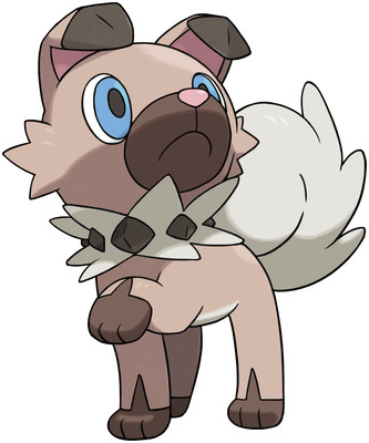 Rockruff artwork by Ken Sugimori