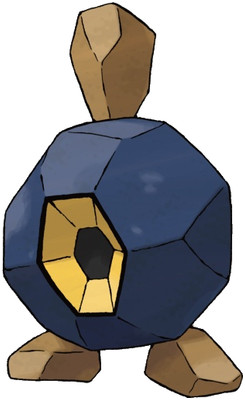 Roggenrola artwork by Ken Sugimori