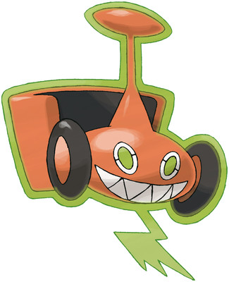 Rotom (Mow Rotom) artwork by Ken Sugimori