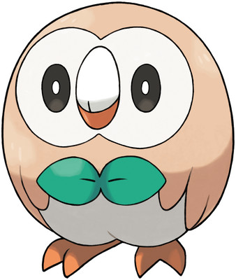 Rowlet artwork by Ken Sugimori