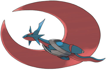 Mega Salamence artwork by Ken Sugimori