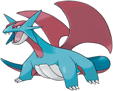 Salamence artwork by Ken Sugimori