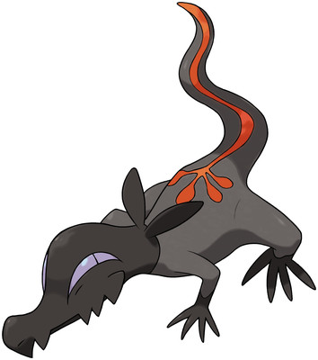 Salandit artwork by Ken Sugimori