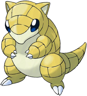 Sandshrew artwork by Ken Sugimori