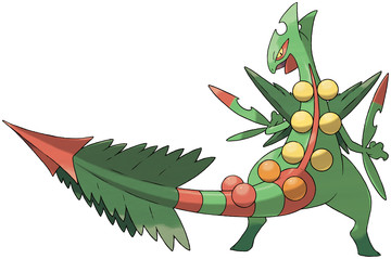 Mega Sceptile artwork by Ken Sugimori