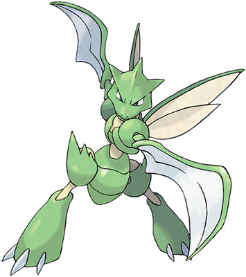 Scyther artwork by Ken Sugimori