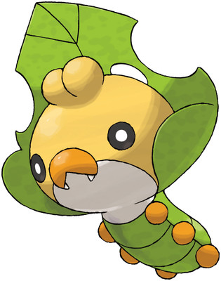 Sewaddle artwork by Ken Sugimori