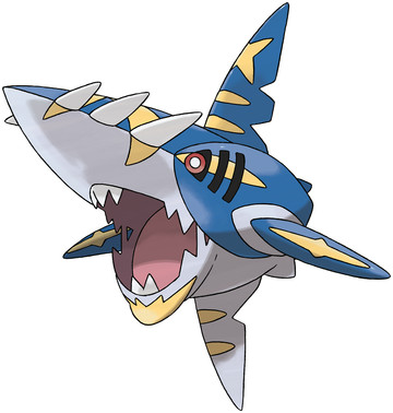 Sharpedo (Mega Sharpedo) artwork by Ken Sugimori