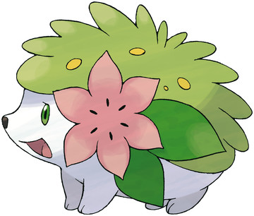 Shaymin (Land Forme) artwork by Ken Sugimori