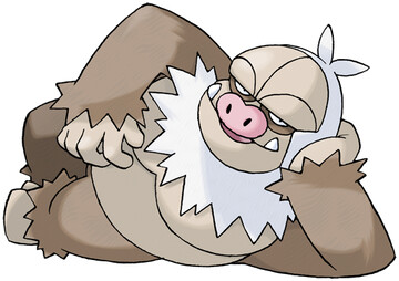 Slaking artwork by Ken Sugimori