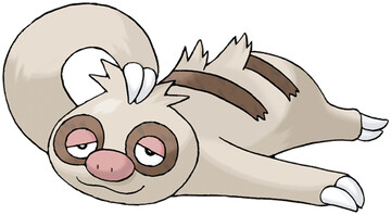 Slakoth artwork by Ken Sugimori