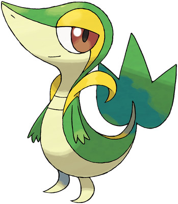 Snivy artwork by Ken Sugimori