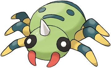Spinarak artwork by Ken Sugimori